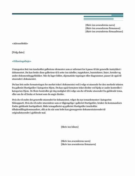Utskriftsfletting, brev (moderne)