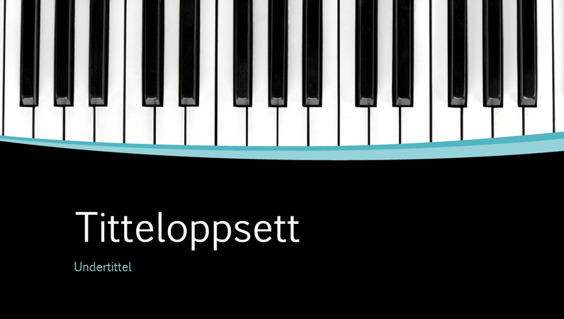 Presentasjon med musikalske kurver (bredformat)