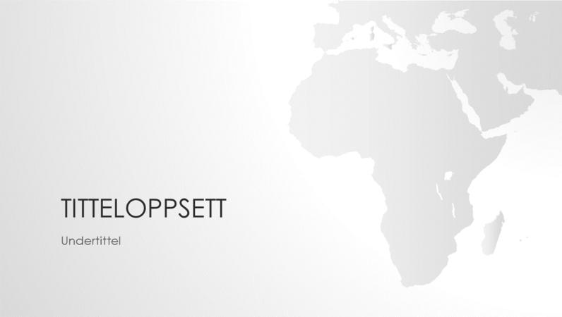Serie av verdenskart, presentasjon av det afrikanske kontinentet (bredformat)