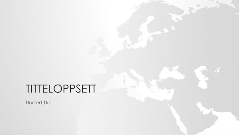 Serie av verdenskart, presentasjon av det europeiske kontinentet (bredformat)