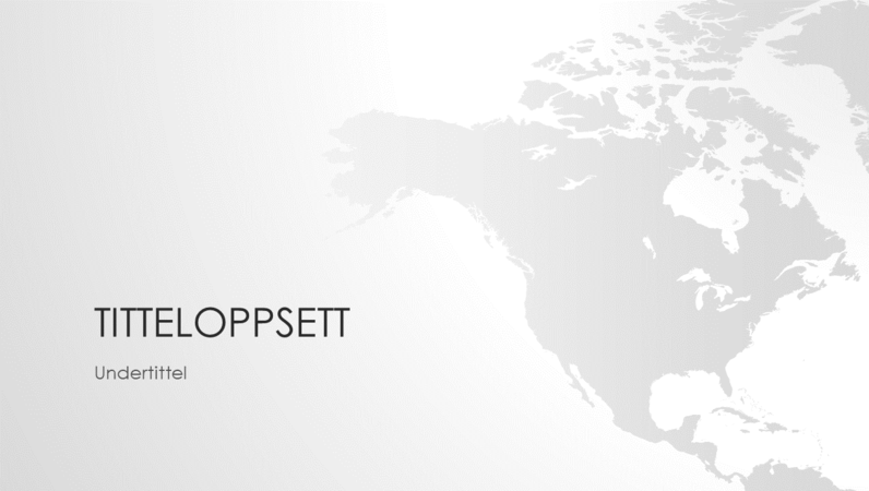 Serie av verdenskart, presentasjon av det nordamerikanske kontinentet (bredformat)