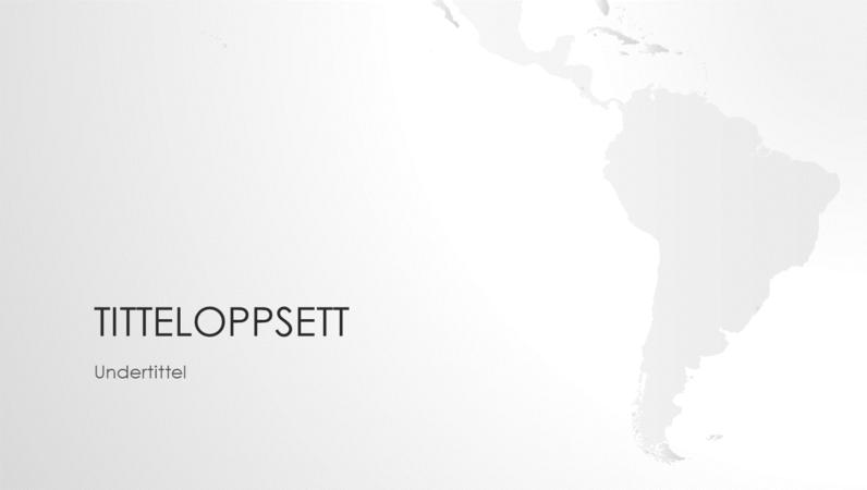 Serie av verdenskart, presentasjon av det søramerikanske kontinentet (bredformat)