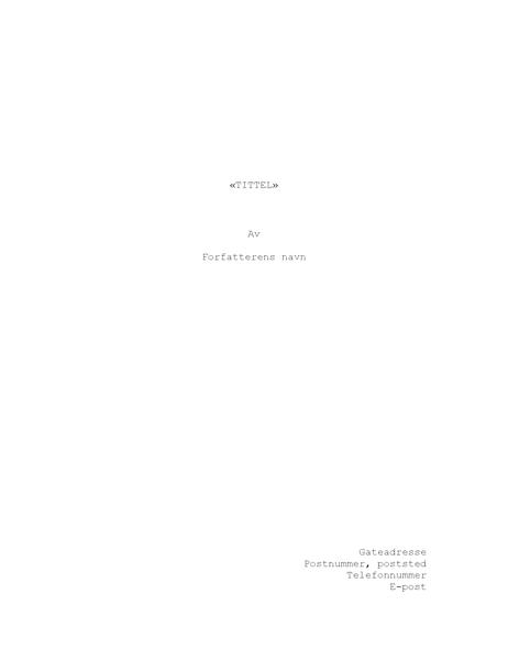 Filmmanuskript