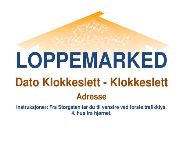 Flygeblad for loppemarked