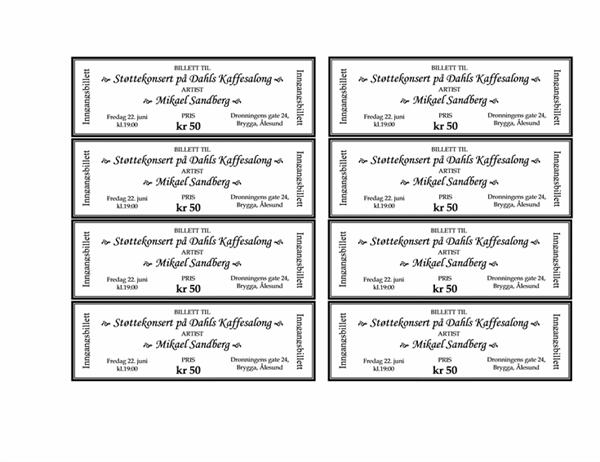 Billetter til arrangement