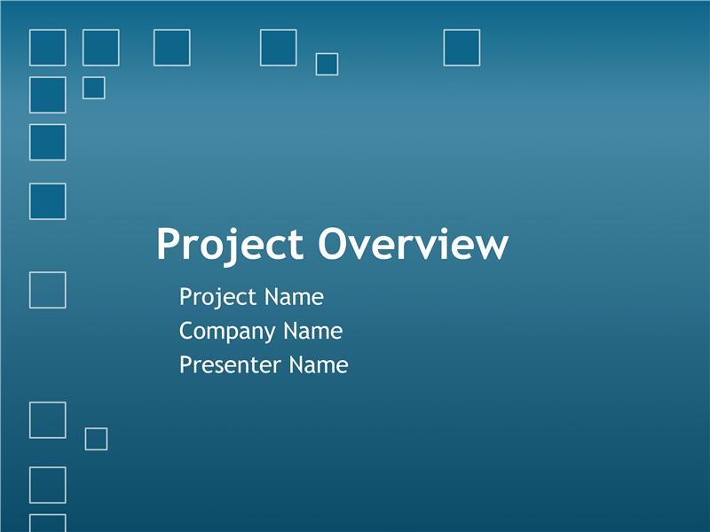Presentasjon av prosjektoversikt