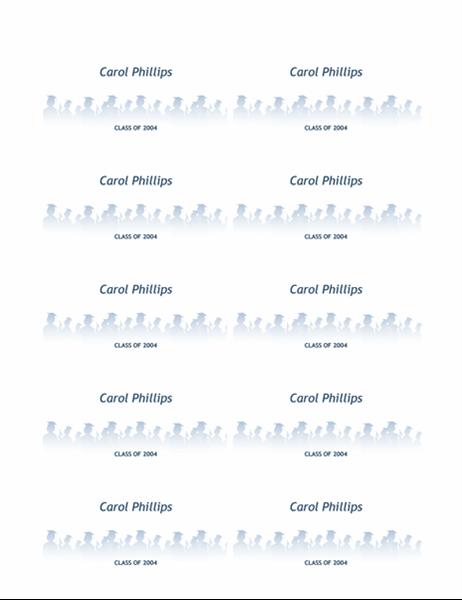 Navnekort for avgangselev