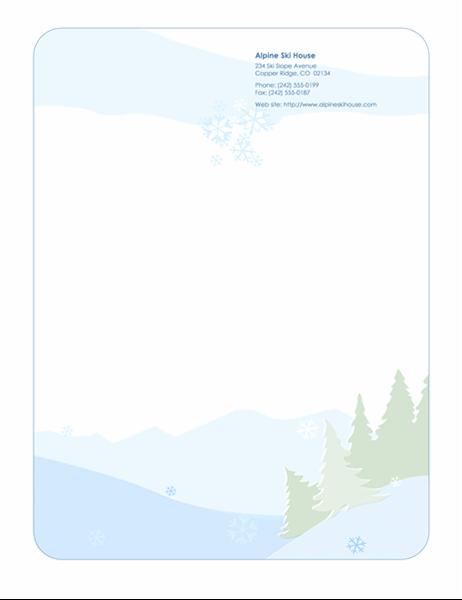 Høytidsbrevpapir (med snømotiv)