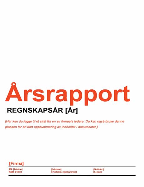 Årsrapport (rød og svart utforming)