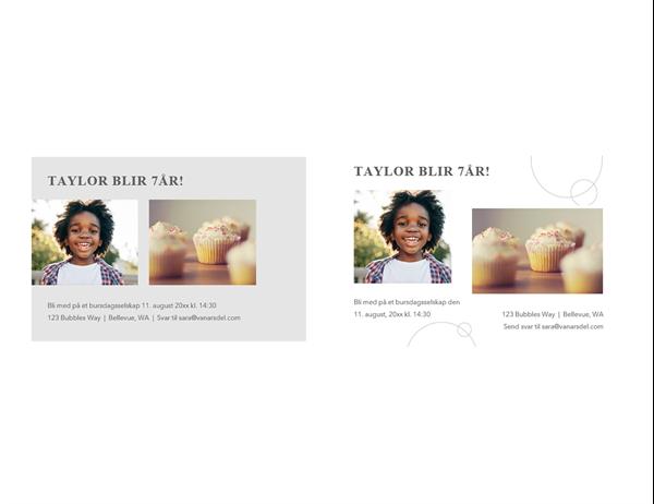 Postkort med fødselsdagsinvitasjon