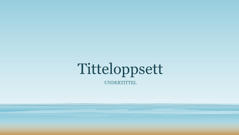 Presentasjon av havmaleri (bredformat)