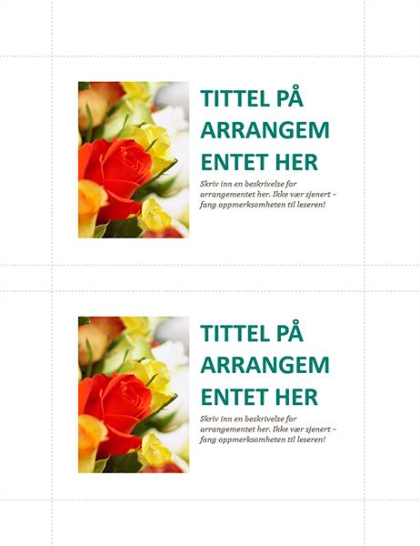Postkort for firmaarrangementer (2 per side)