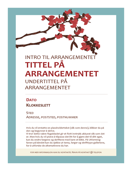 Flygeblad for vårarrangement