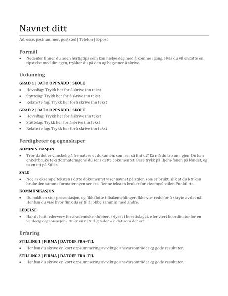Kompetanse-CV