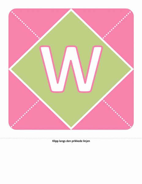 Velkomstbanner for jentebarn (rosa, purpur, grønn)
