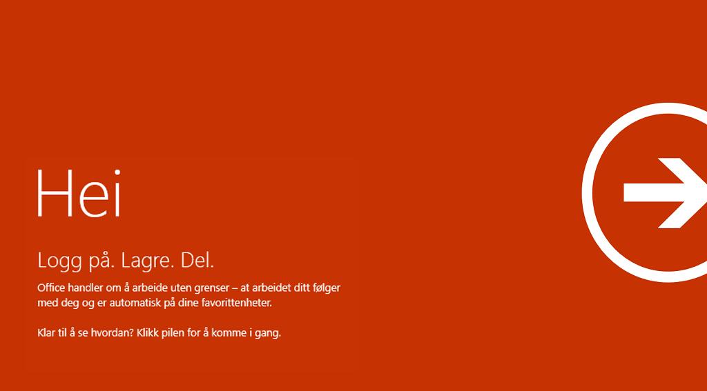 Velkommen til Office Consumer – logg på, lagre, del