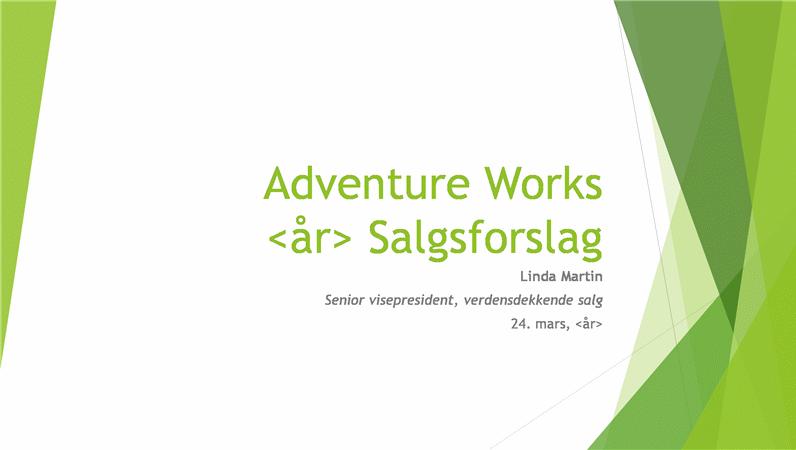 Presentasjon for salgsstrategi, fasett-tema (widescreen)