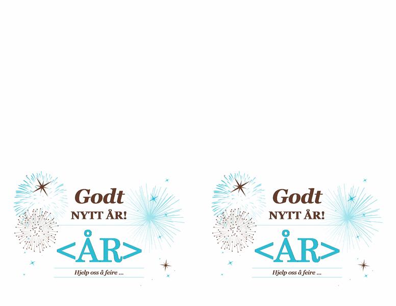 Invitasjon til nyttårsfest (for Avery 3268)