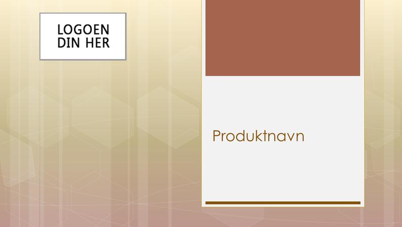 Presentasjon av forretningsproduktoversikt