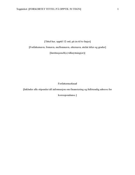 Rapport i APA-stil (6. utgave)