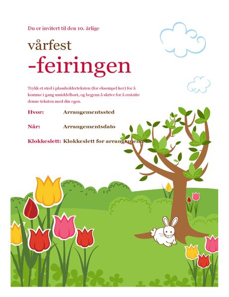 Flygeblad om vårfest