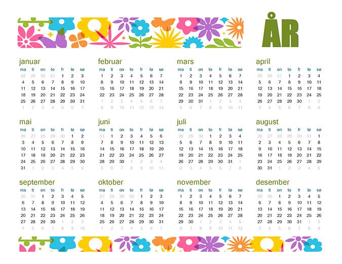 En artig kalender for alle aldre