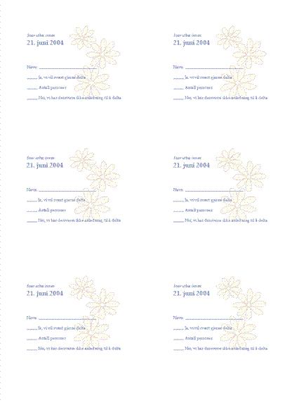 SU-kort for bryllupsgjest