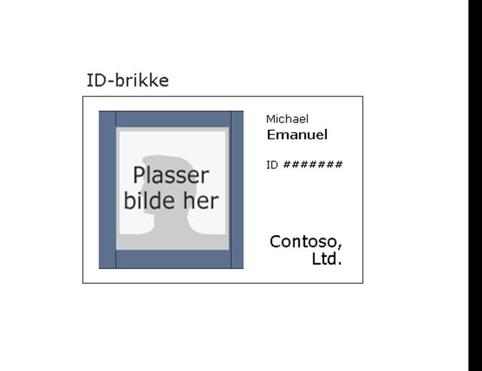 ID-kort for ansatt (liggende)