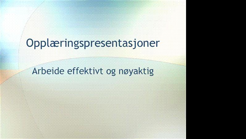 Presentasjon for opplæringsseminar