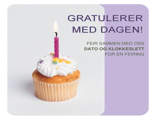 Flygeblad for bursdagsinvitasjon (med muffins)