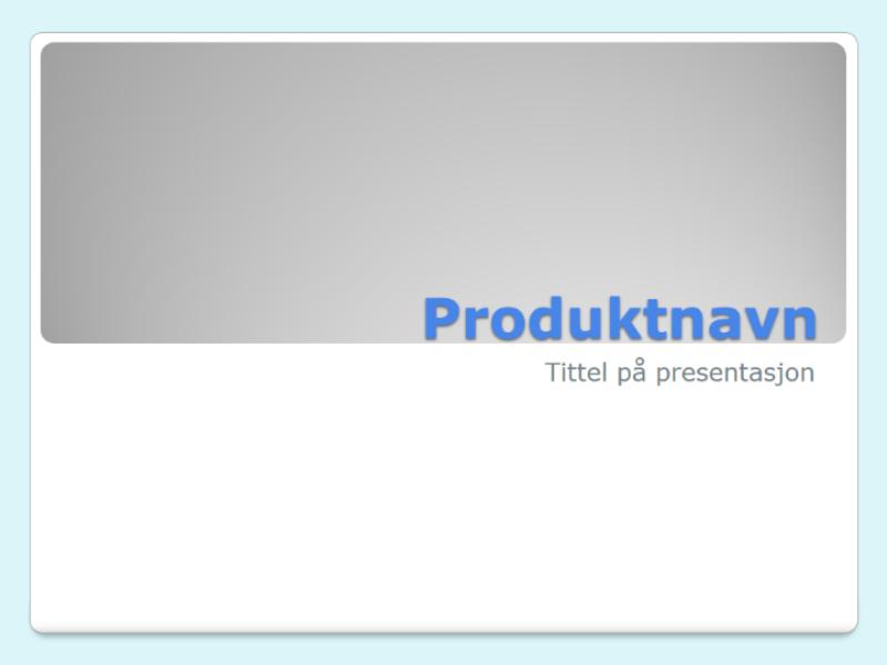 Presentasjon av produktoversikt