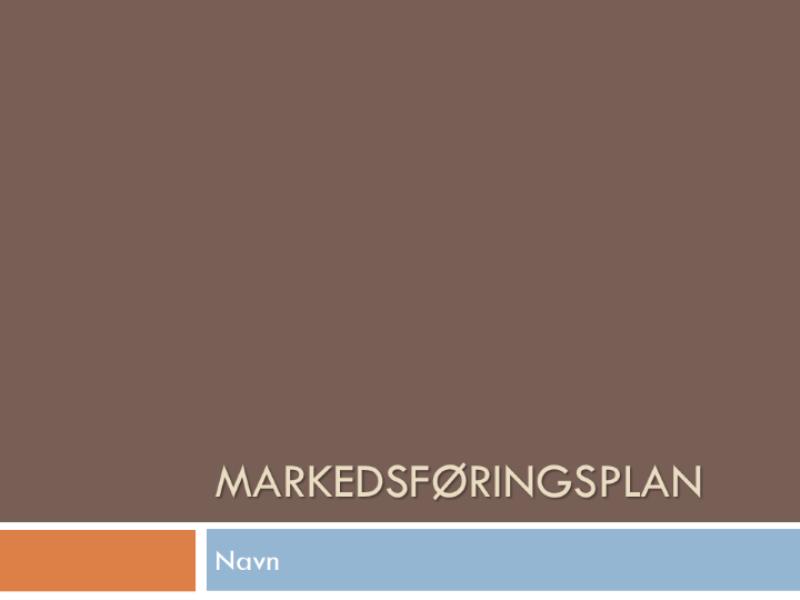 Markedsplan