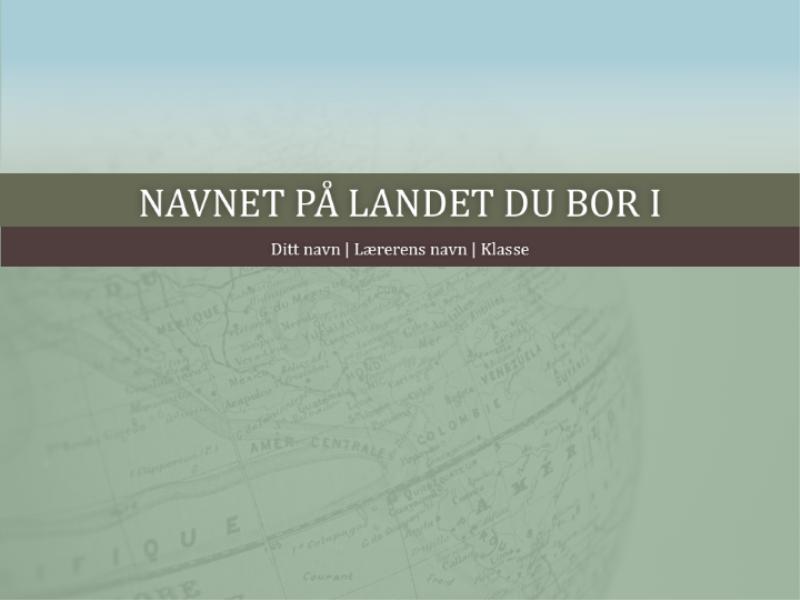 Presentasjon for rapport om land
