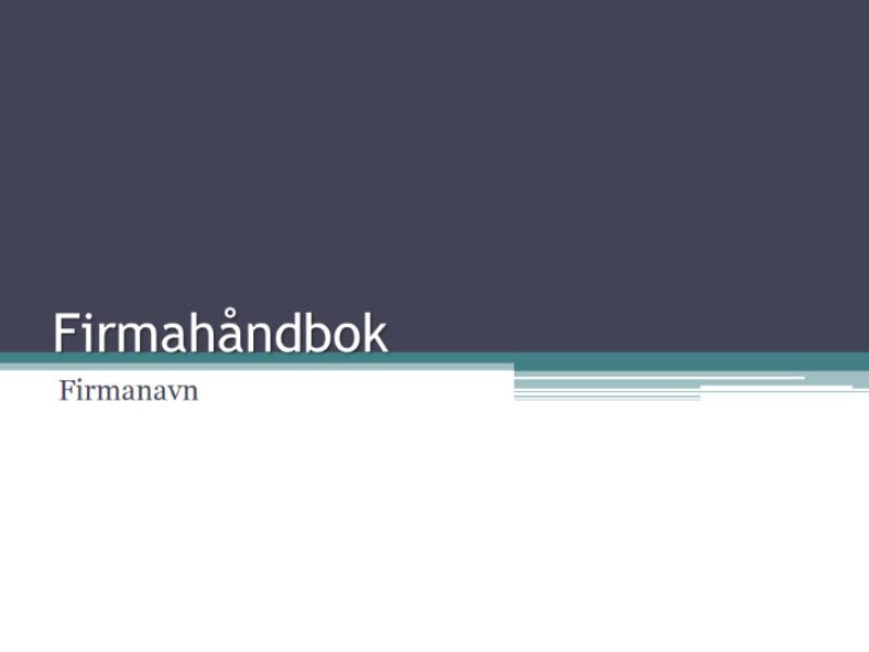 Firmahåndbok