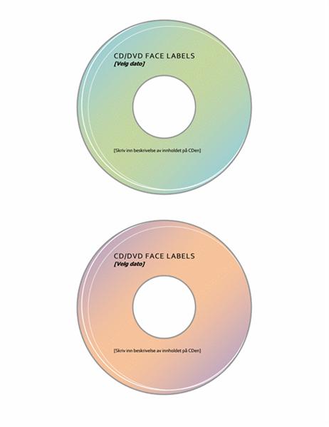 Etiketter for CD/DVD