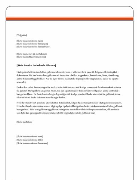 Dateres formelt brev nytt format