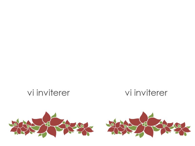 Festinvitasjon (julestjernedesign)