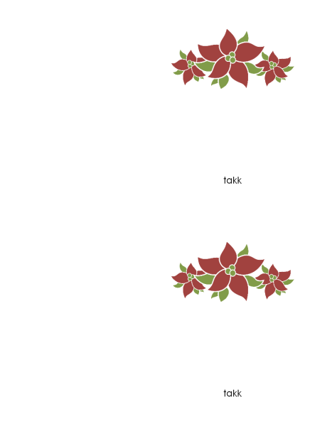 Takkekort (julestjernedesign)