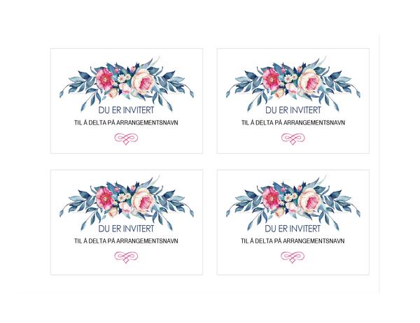 Festinvitasjon (blomsterdesign)