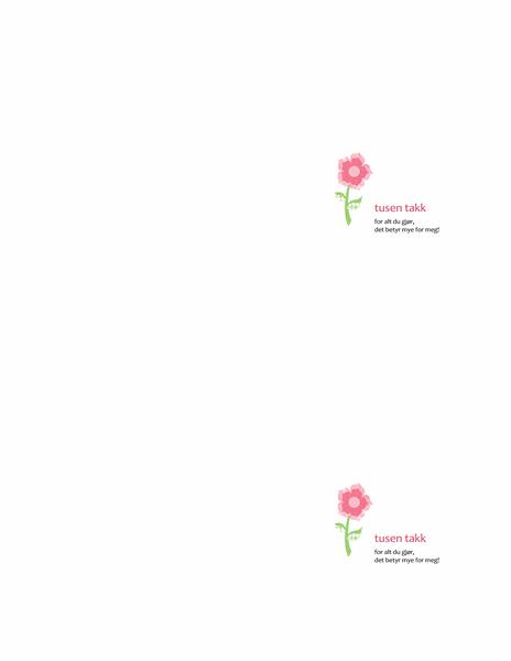 Takkekort (blomstermotiv)