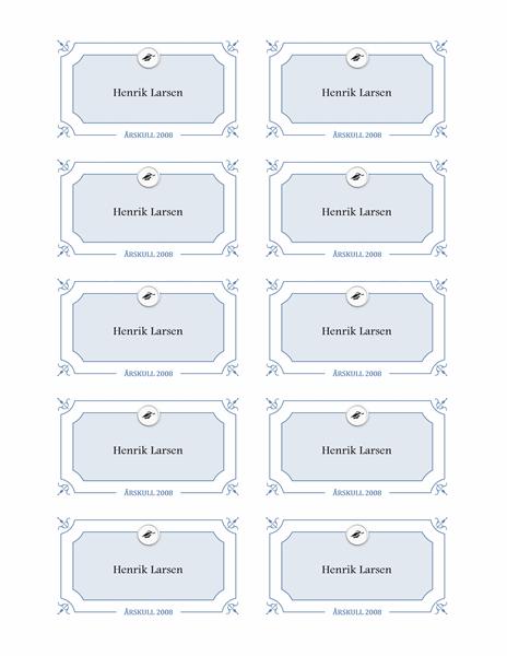 Eksamensnavnekort (formell utforming)