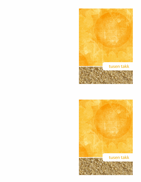 Takkekort (sol-og-sand-motiv)