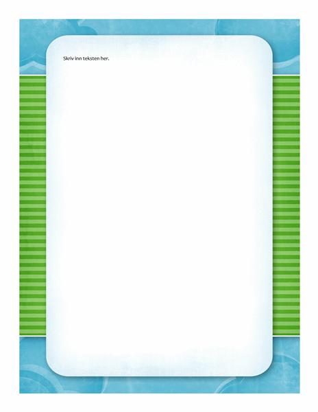 Brevpapir (design med skyer)