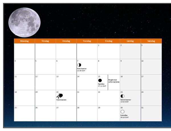 Månekalender for 2010 (GMT)