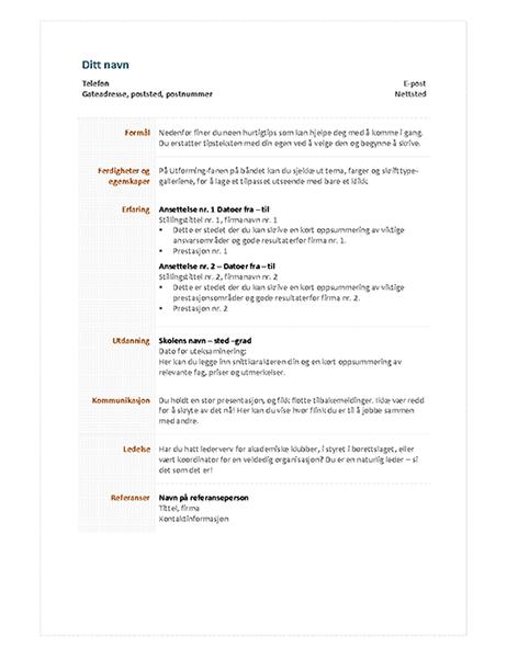 Funksjonell CV