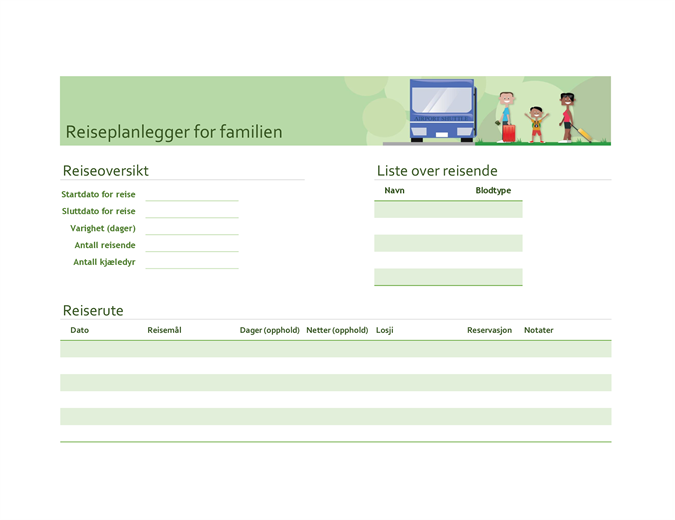 Reiserute for familien