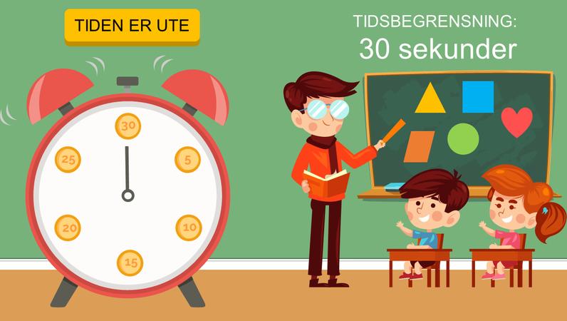 Tidtakere for klasserommet (klokke)