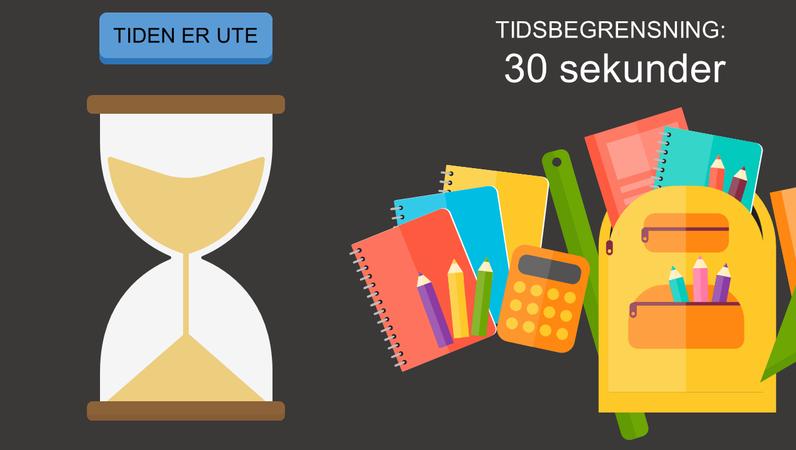 Tidtakere for klasserommet (timeglass)