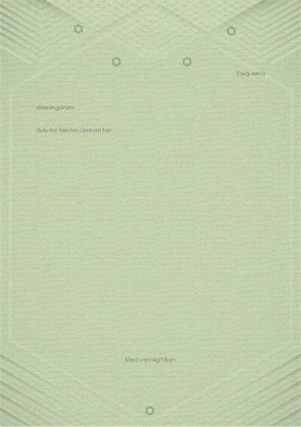 Mal for personlige brev (elegant grå-grønn utforming)
