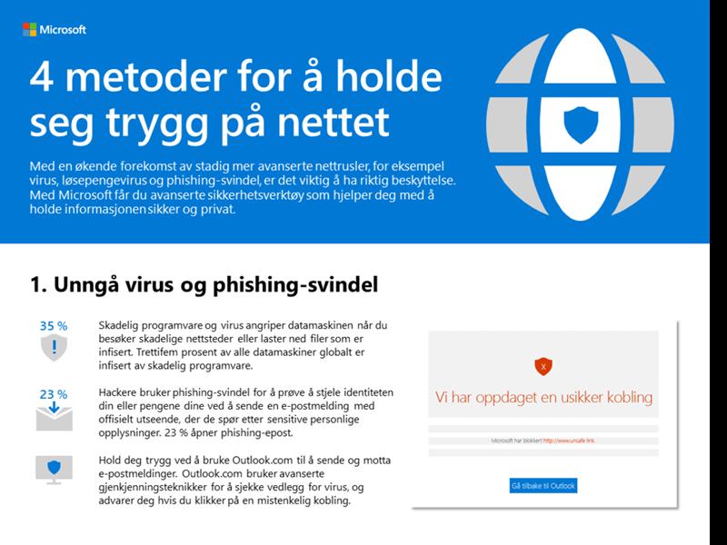 4 metoder for å holde deg trygg på nettet